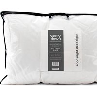 Goose Feather and Down Pillow Collection - White / 75cm / Soft/Medium