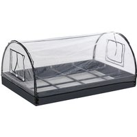 12 Grids Garden Bed Planter Kit Box with 2 Roll Up Windows -