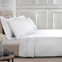 180 Thread Count Cotton Flat Sheet - White / Double