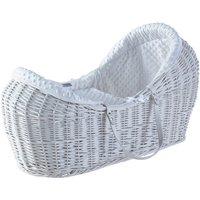White Dimple White Pod Moses Basket - White