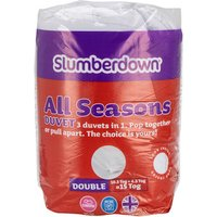 All Seasons Duvet 4.5 and 10.5Tog - Double