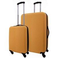 Image of ABS Rib Luggage Set - Yellow
