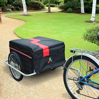 New Bicycle Bike Cargo Trailer Cart Carrier Shopping - Black and Red