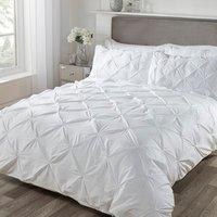 Balmoral Smock Duvet Cover and Pillowcase Set - White / King