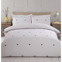 Bumblebee Embroidered Duvet Cover and Pillowcase Set - Super King