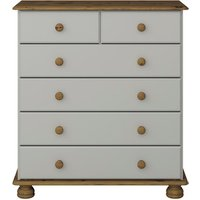 Steens Richmond Six Drawer Chest - Grey and Pine