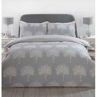 Woodbury Duvet Cover and Pillowcase Set - Silver / King