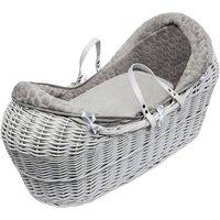 Grey Honeycomb White Pod Moses Basket