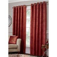 Gild Velvet Eyelet Curtains - Ruby Gold / 229cm