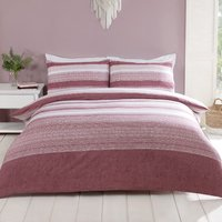 Inala Duvet Cover and Pillowcase Set - Ash Rose / King