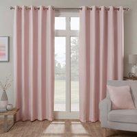 Bucking Blackout Eyelet Curtains - Blush / 168cm / 137cm