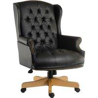 Teknik Chairman Noir Executive Chair - Black/Oak