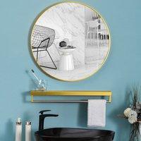 Round Wall Mirror  - Gold  / 40cm