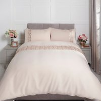 Esmeralda Sequin Duvet Cover and Pillowcase Set - Rose Gold / King