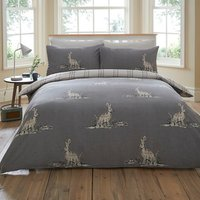 Woodland Hare 144 Thread Count Duvet Cover and Pillowcase Set - Double