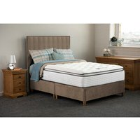 Jonas and James Hamilton Divan Bed Set With Mattress - Stone / 2 / Single