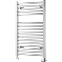 Towelrads Pisa Chrome Straight Towel Rail Radiator - Chrome / 800mm / 300mm