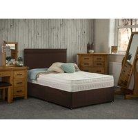 Yealm Non Storage Divan Bed with Mattress - Brown / Single