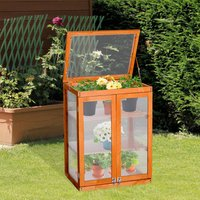 Wooden Greenhouse Flower Planting Box - Wood / 58cm