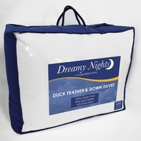 13.5 tog All Season Duck Feather and Down Duvet - White / Double