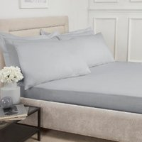 180 Thread Count Cotton Fitted Sheet  - Silver / Super King
