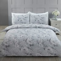 Bella Duvet Cover and Pillowcase Set - Grey / Double