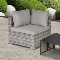 Rattan Corner Sofa Garden Rattan Furniture - Grey