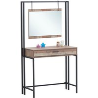 Stretton Dressing Table With Mirror - Rustic Oak