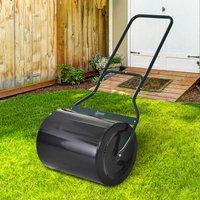 60L Steel Garden Roller  - Black/Green