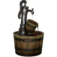 Barrel Water Feature - Brown
