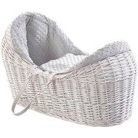 Grey Dimple White Pod Moses Basket - Grey