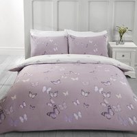 Flutter Butterfly Duvet Cover and Pillowcase Set - Lilac / King