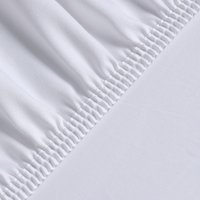 Silky Satin Fitted Bed Sheet Superking - White
