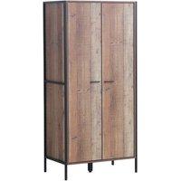 Stretton Two Door Wardrobe - Rustic Oak