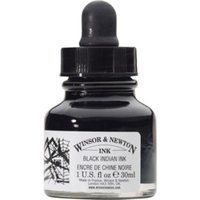 Winsor and Newton 14ml Drawing Ink - Black