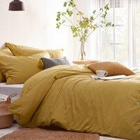 Linen Look Duvet Cover Set - Double