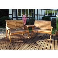 Charles Taylor Twin Bench Set  With Angled Tray - Redwood
