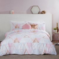 Abstract Bunting Metallic Print Duvet Cover and Pillowcase Set - Double