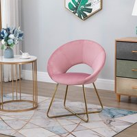 Modern Accent Upholstered Armchair  - Pink