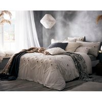 Portfolio Home Amara Duvet Cover and Pillowcase Set - Cream / Super King