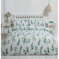 Eucalyptus Duvet Cover and Pillowcase Set - Green / Double