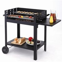 Easy Assembly Lambada Charcoal BBQ Grill with No Screws Required - B