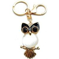 62mm Owl Handbag Buckle Charm - Gold