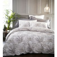 Palm Springs Duvet Cover and Pillowcase Set  - Silver / Double