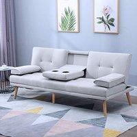 3 Seater Sofa Bed, Grey - Grey