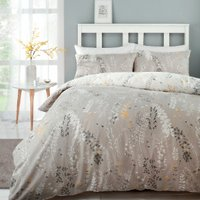 Meadow Haze Ochre Printed Duvet Cover and Pillowcase Set - Double