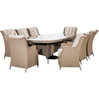 Thalia 8 Seat Oval Dining Set-Willow