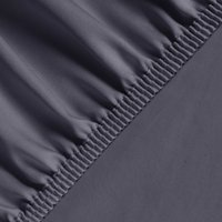 Silky Satin Fitted Bed Sheet King - Anthracite