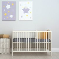 70x140 cm Velvet Flannel Fitted Cot Crib Bed Sheets Double Pack - Taupe