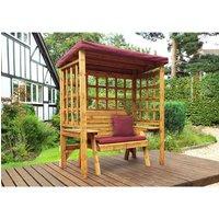 Charles Taylor Wentworth 2 Seat Arbour - Burgundy - Redwood/Burgundy